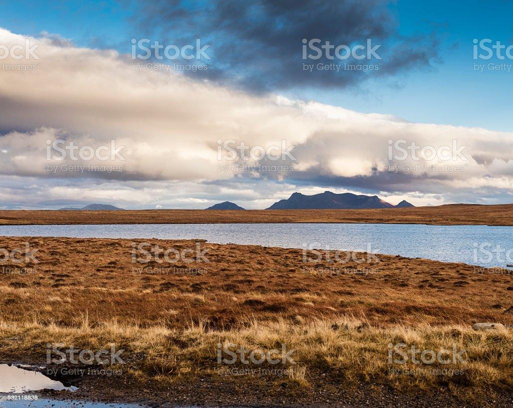 Highlands, Scotland. Loch Maovally along the A838 road stock photo