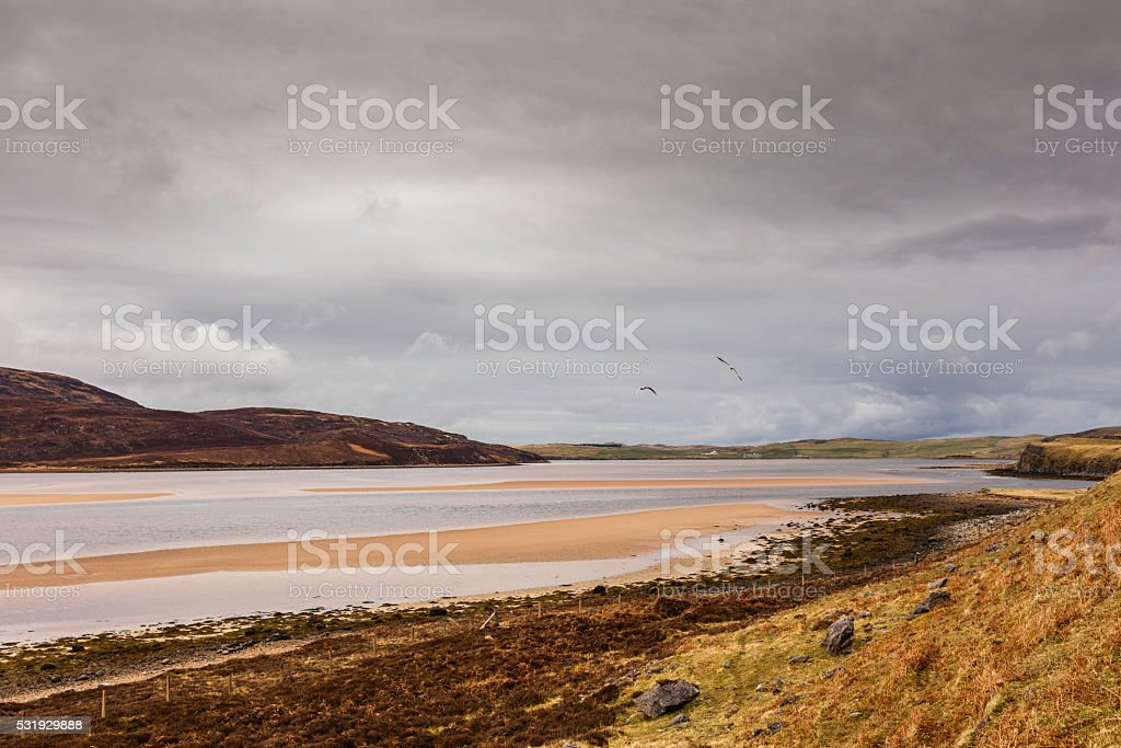 Highlands, Scotland. On Kyle of Durness along the A838 road stock photo
