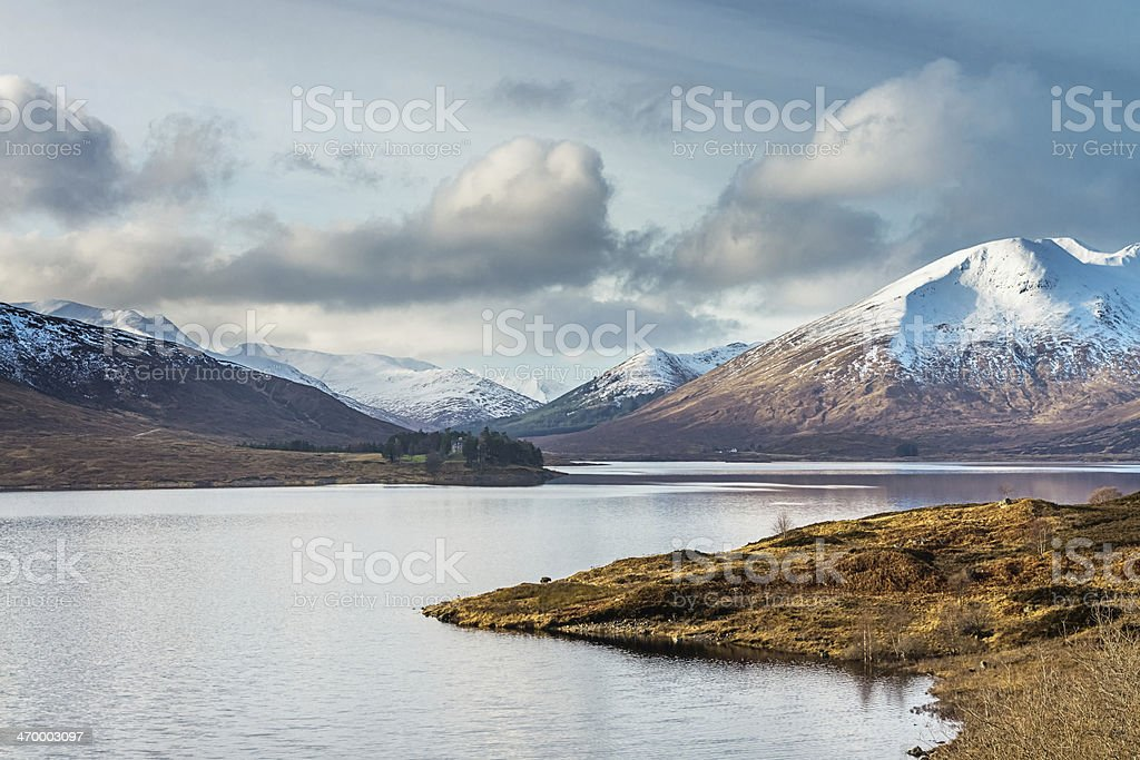 Highlands Scotland Snowy Mountains UK royalty-free stock photo