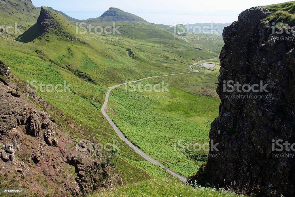Highlands view Scotland stock photo