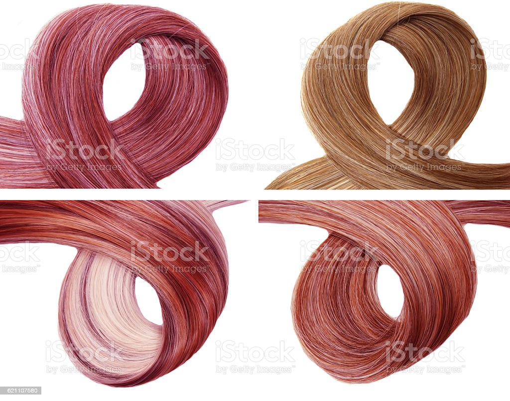 highlight hair beauty texture background stock photo