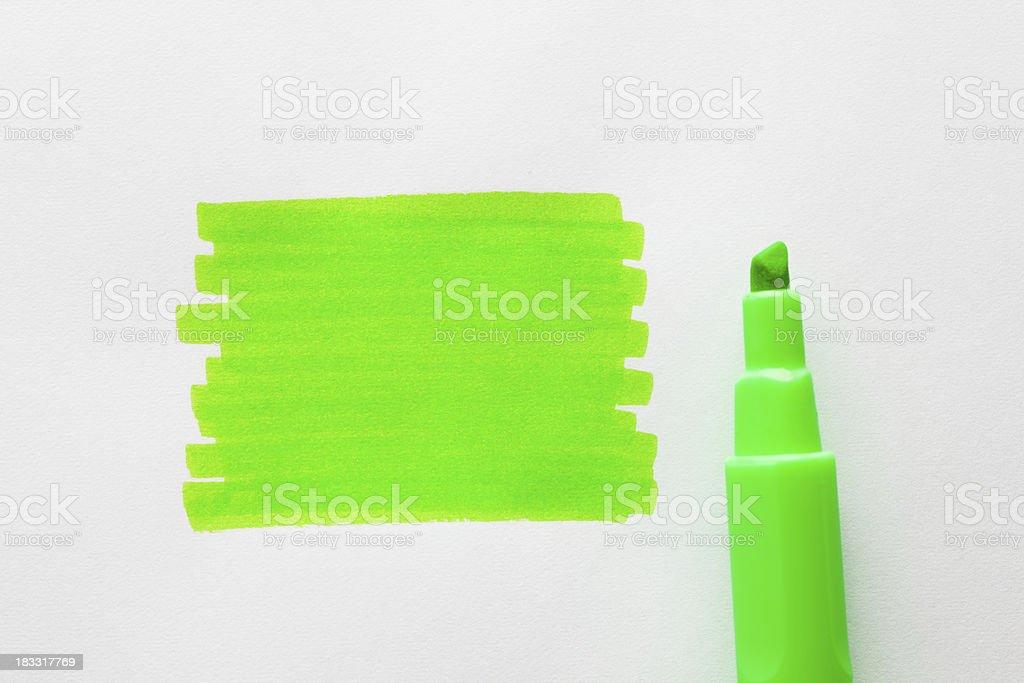 Highlight marker royalty-free stock photo
