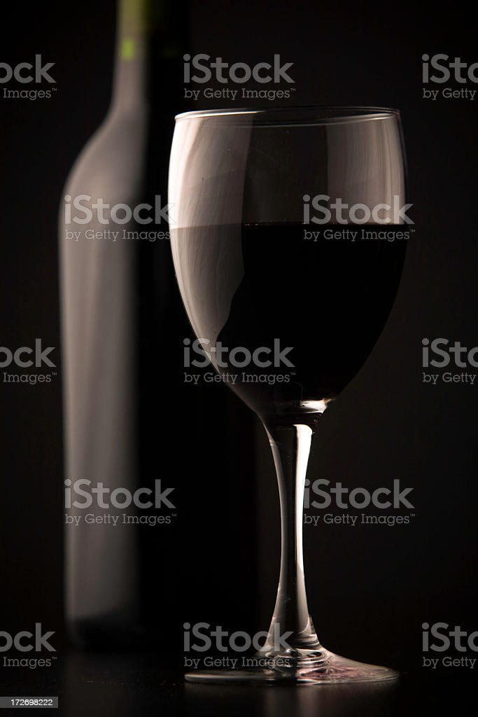 highlighted glass stock photo