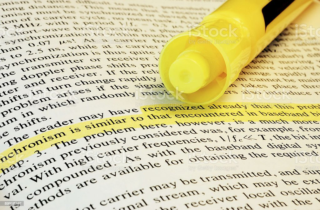 Highlighted Text royalty-free stock photo