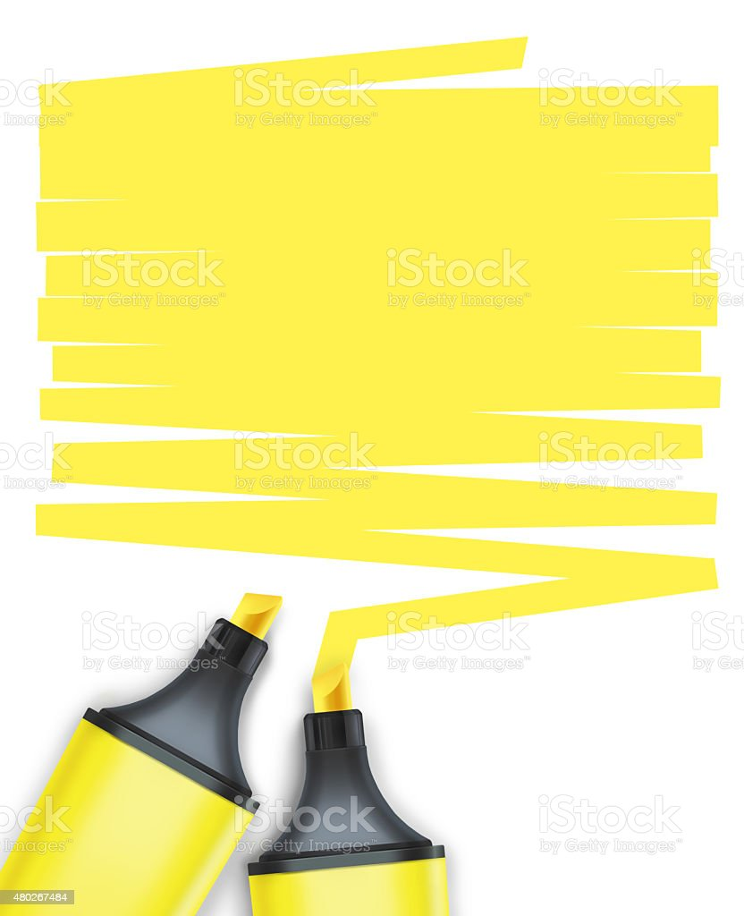 highlighter pen with text box stock photo