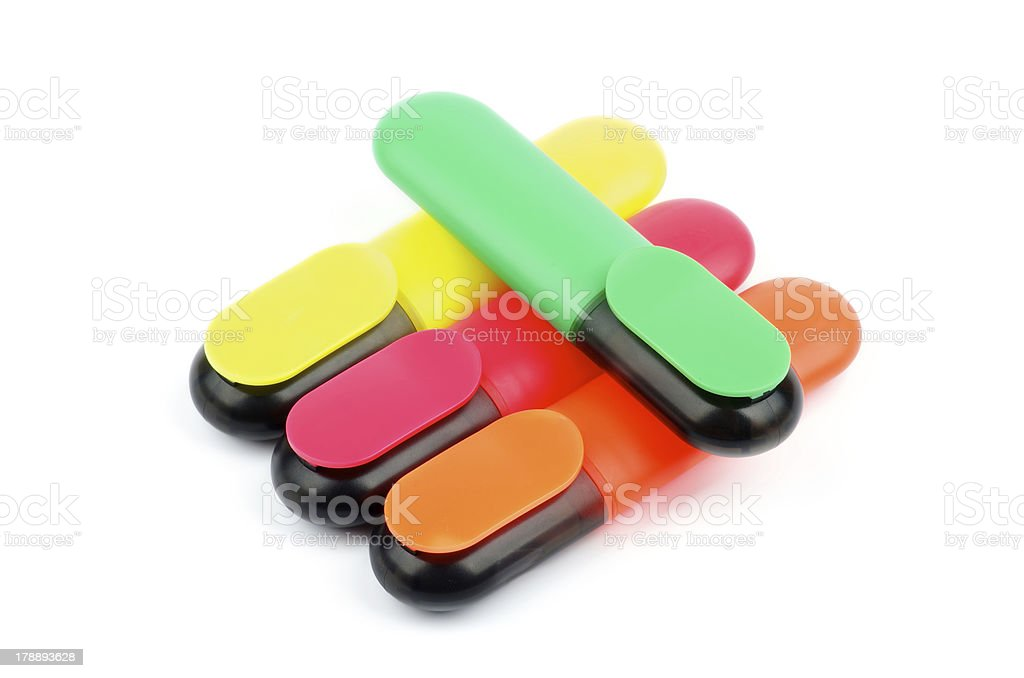 Highlighter Pens royalty-free stock photo