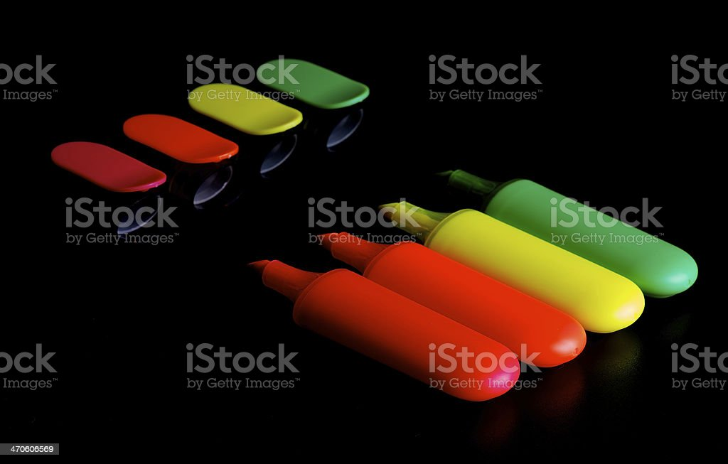 Highlighter Pens stock photo