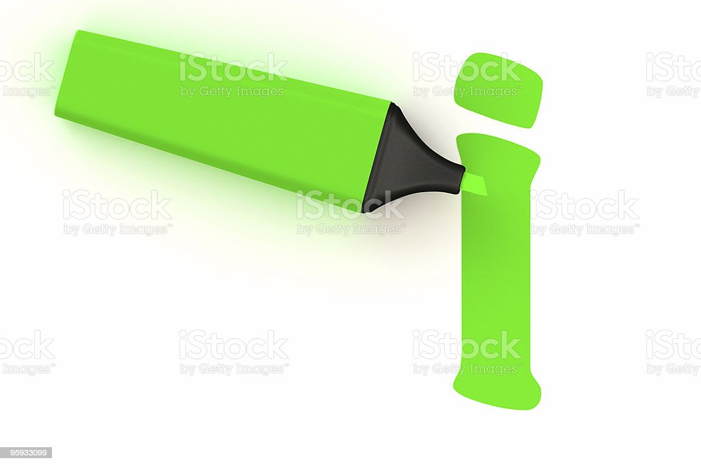 Highlighter Symbol royalty-free stock photo