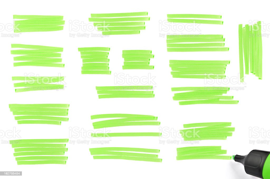 Highlighter traces stock photo