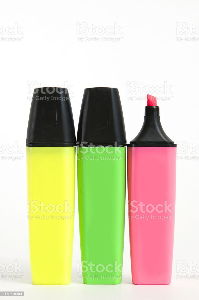 highlighters royalty-free stock photo