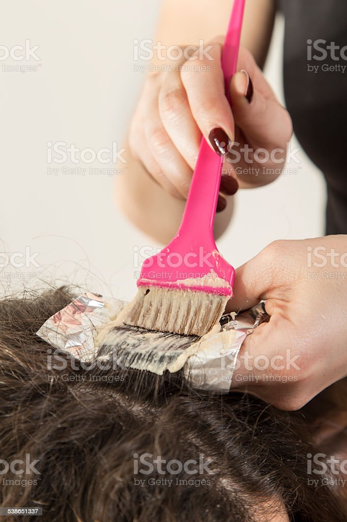Highlighting hair stock photo