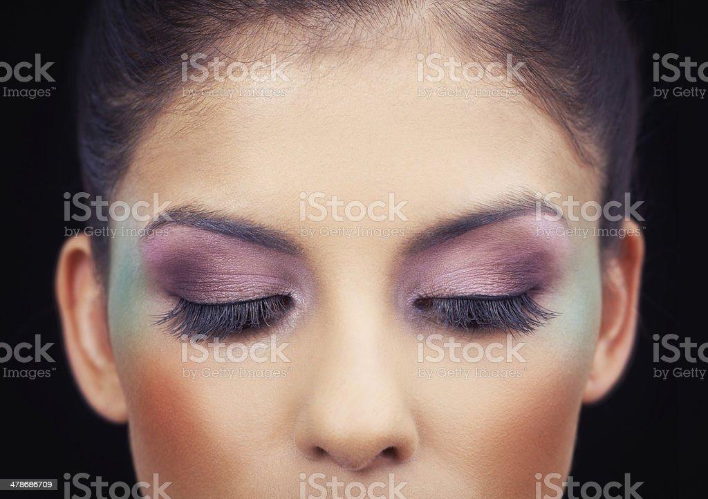 Highlighting her beautiful eyes stock photo