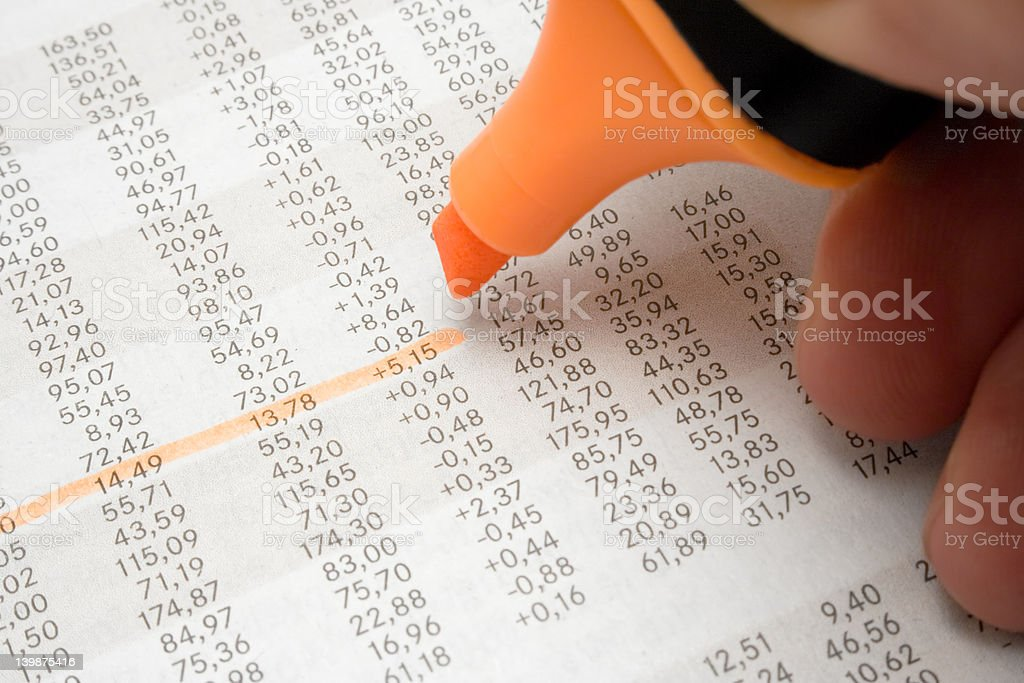 Highlighting Numbers royalty-free stock photo