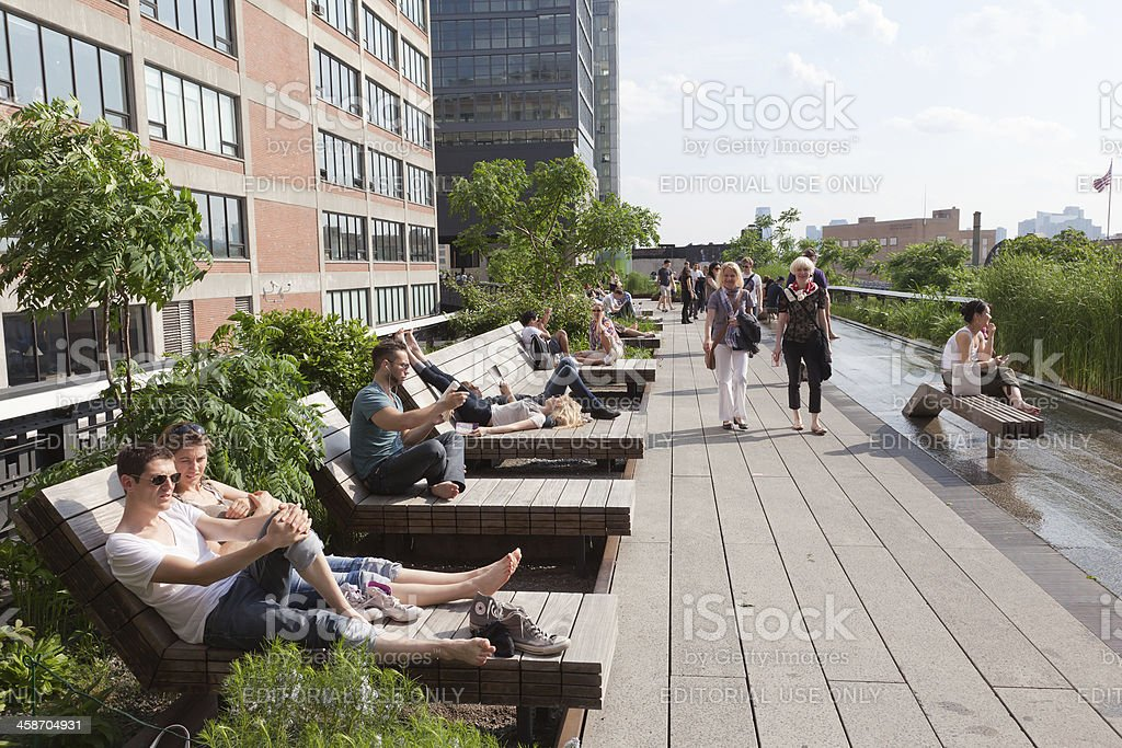 Highline elevated park stock photo