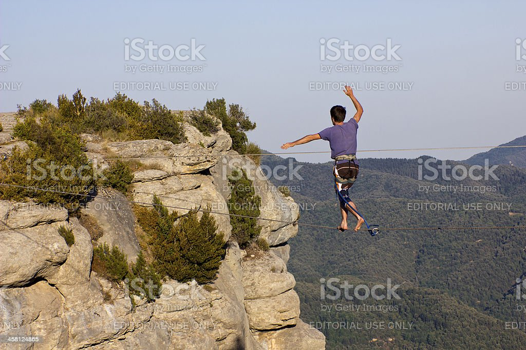 Highline in Spain stock photo