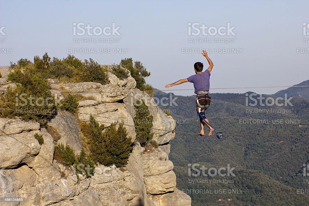 Highline in Spain stock photo