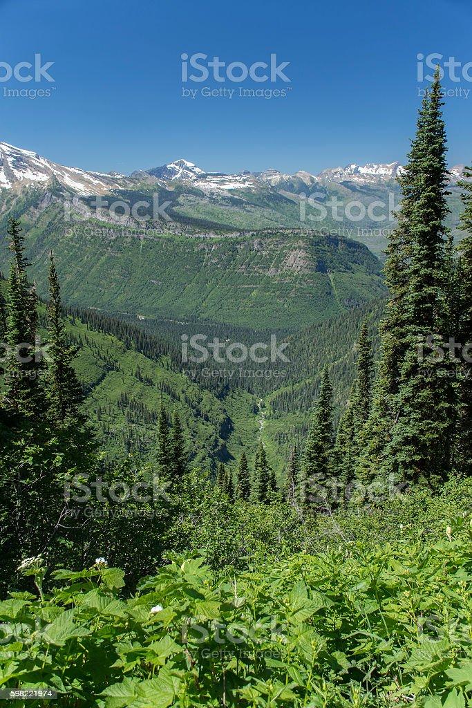 Highline Trail in Glacier National Park stock photo