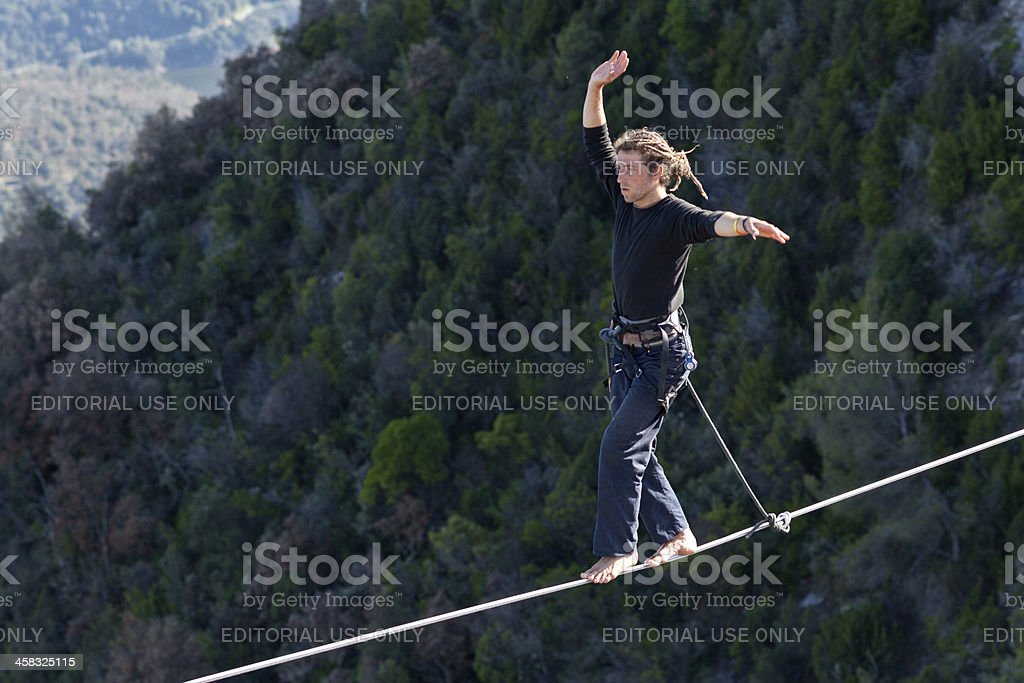 Highlining stock photo
