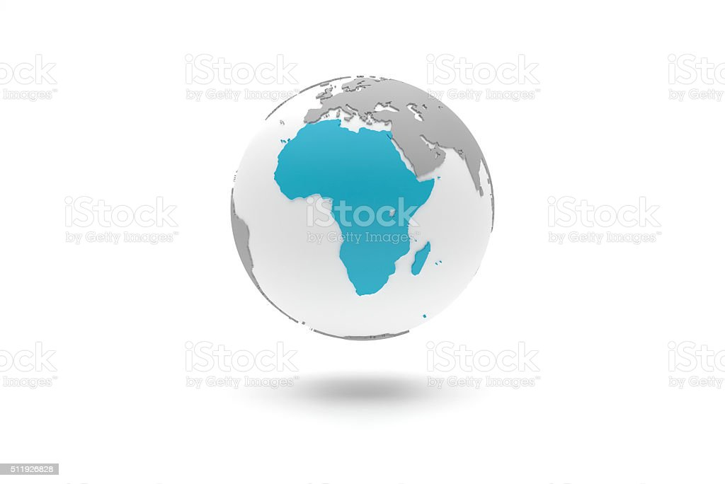 Highly detailed 3D planet Earth globe, Africa stock photo