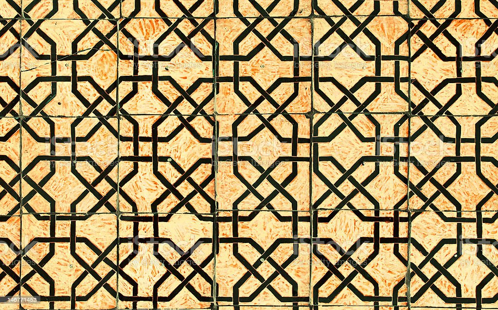 Highly detailed background with oriental ornaments royalty-free stock photo