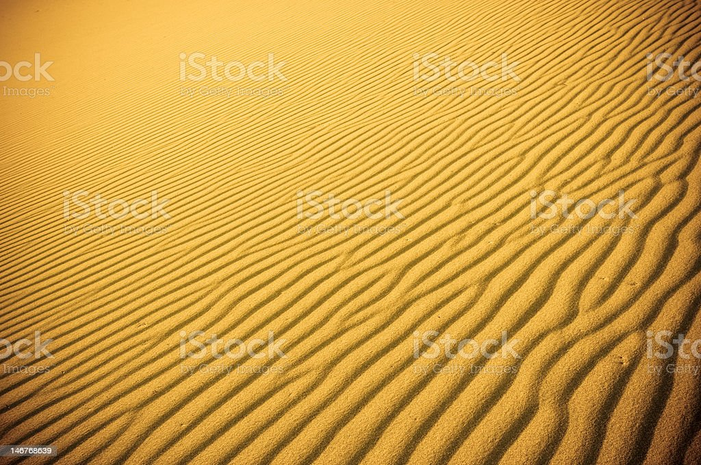 highly detailed texture of sand dunes royalty-free stock photo