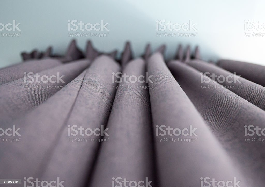 High-quality Grey Curtains Underneath View royalty-free stock photo