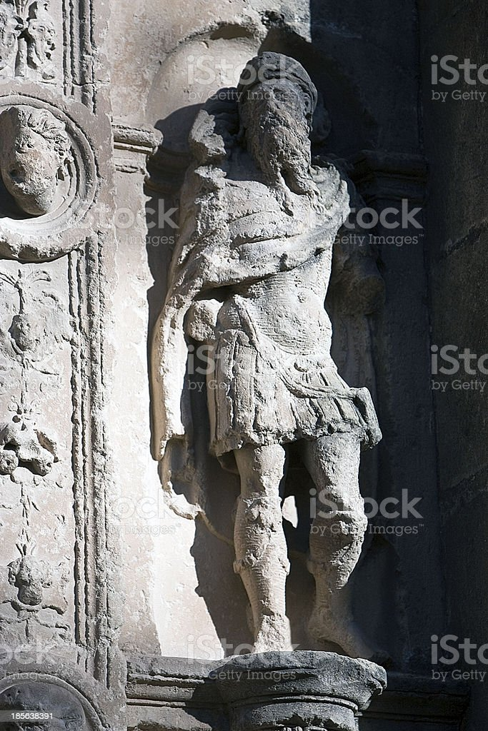 High-relief in niche, Ubeda, Spain stock photo