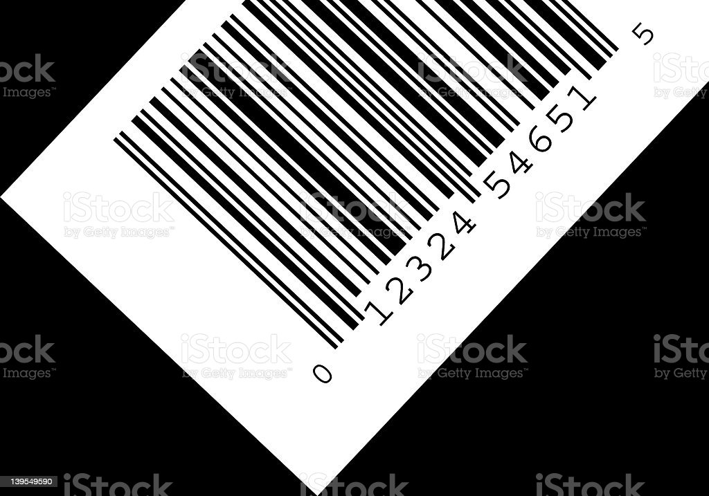 Highres Barcode royalty-free stock photo