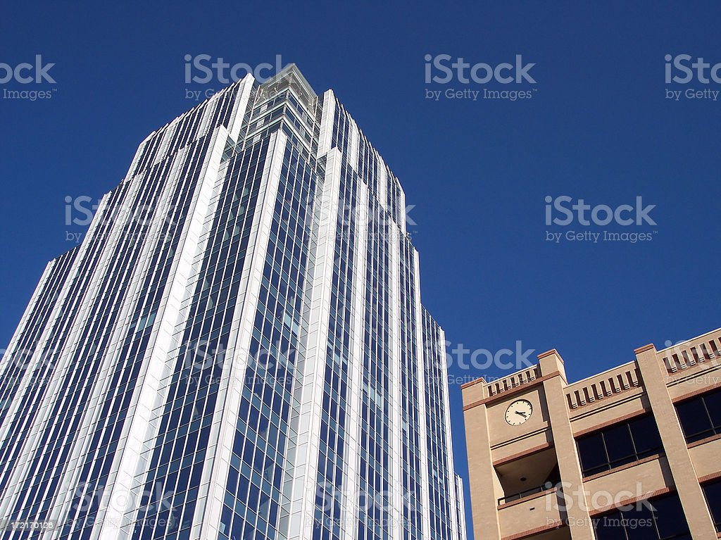 Highrise and Blue Sky stock photo