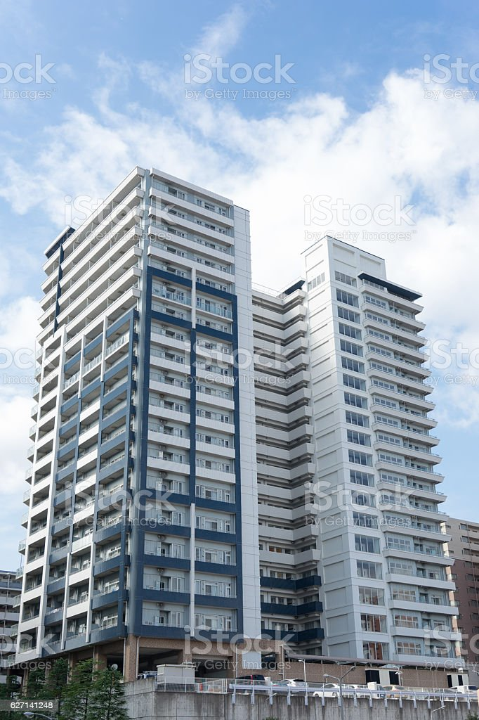 High-rise apartment in Japan. stock photo