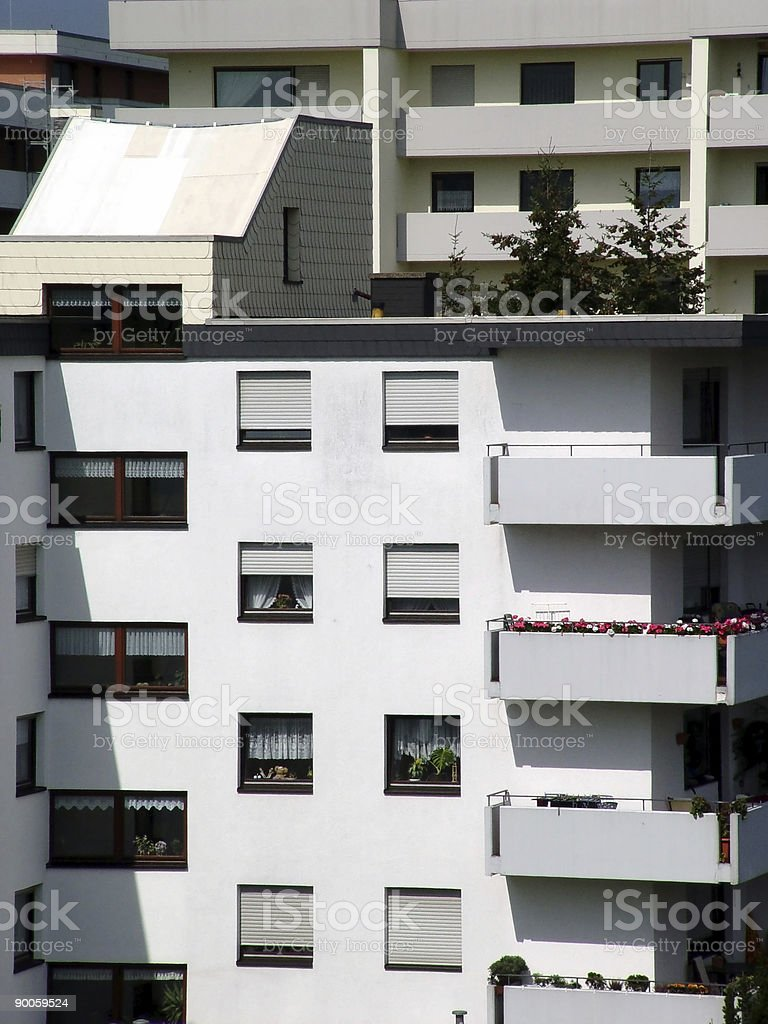 Highrise Apartments royalty-free stock photo