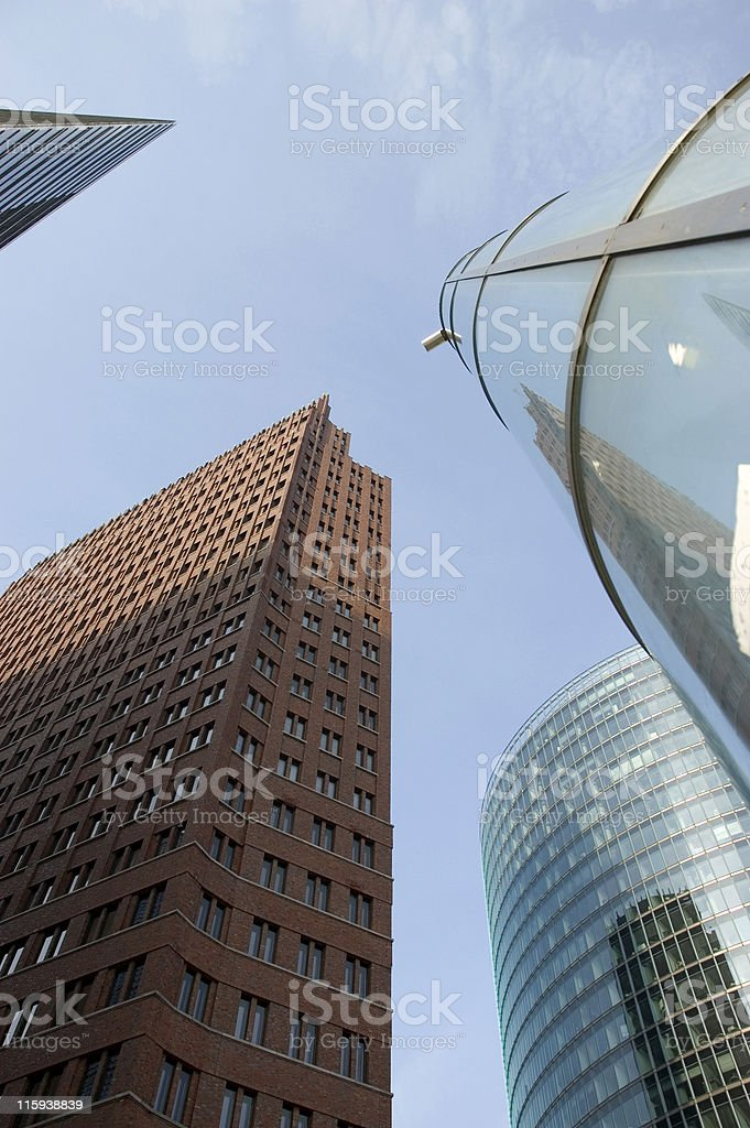 highrise building at the potsdamer platz in berlin stock photo