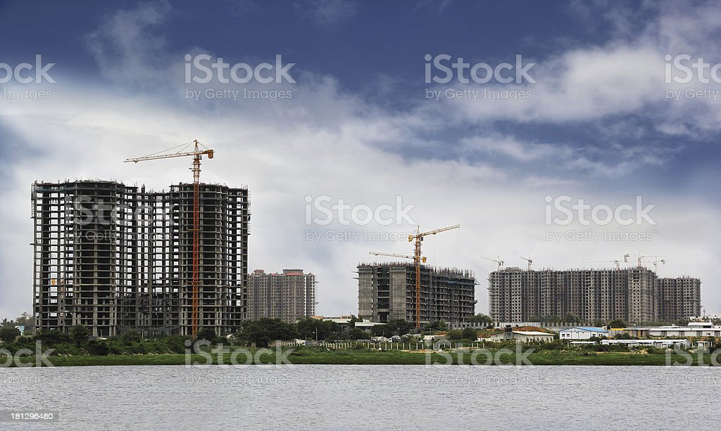 High-Rise Building Construction royalty-free stock photo
