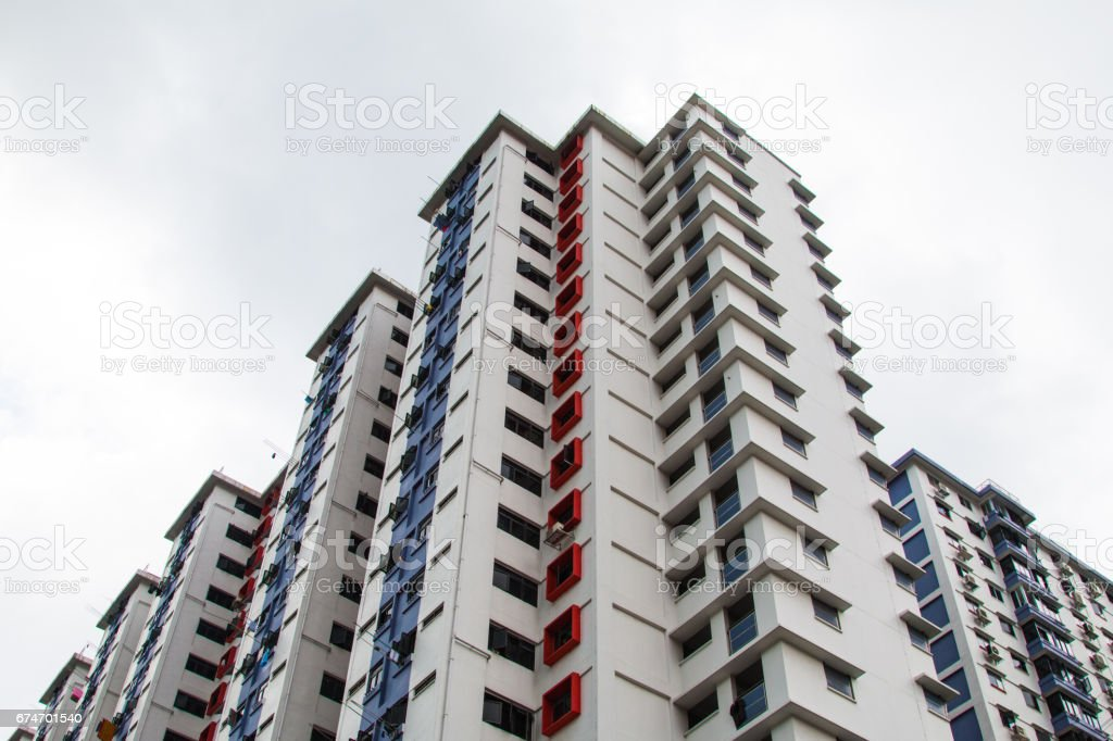 High-rise buildings and blue sky stock photo