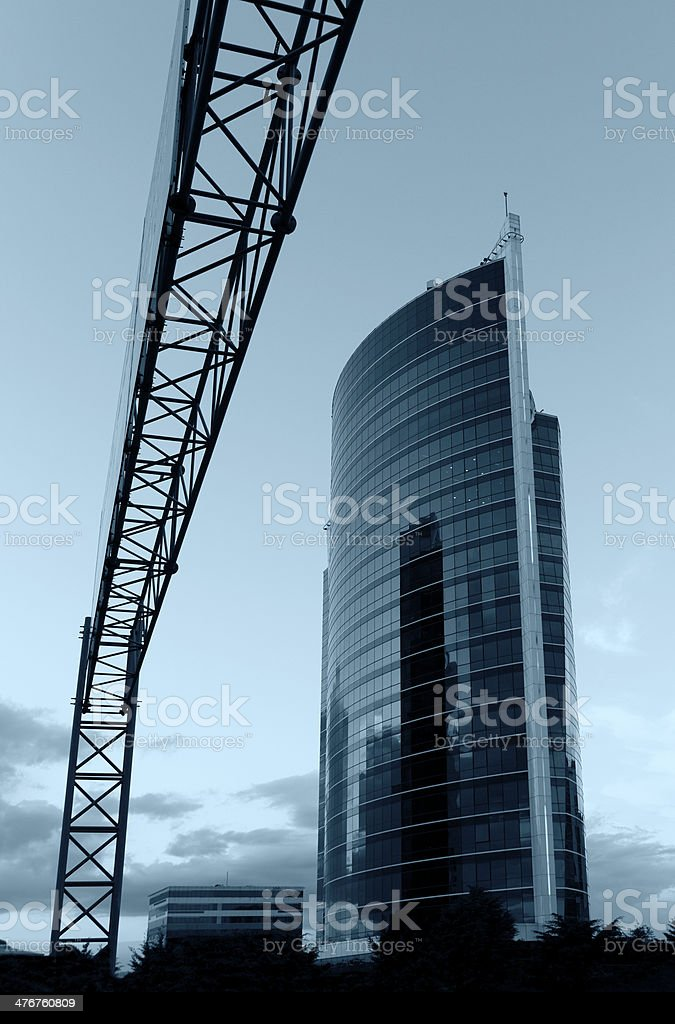 High-Rise Buildings and cloudy sky royalty-free stock photo