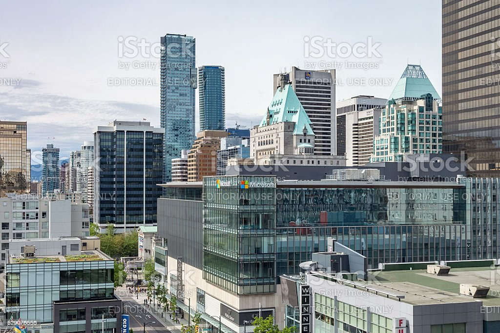 High-rise buildings and skyscrapers in  Vancouver stock photo