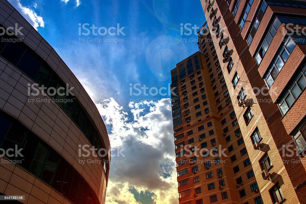 high-rise buildings and skyscrapers stock photo