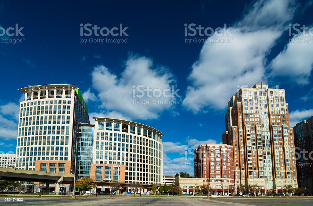 Highrise Building's in Alexandria's Carlyle Neighborhood stock photo