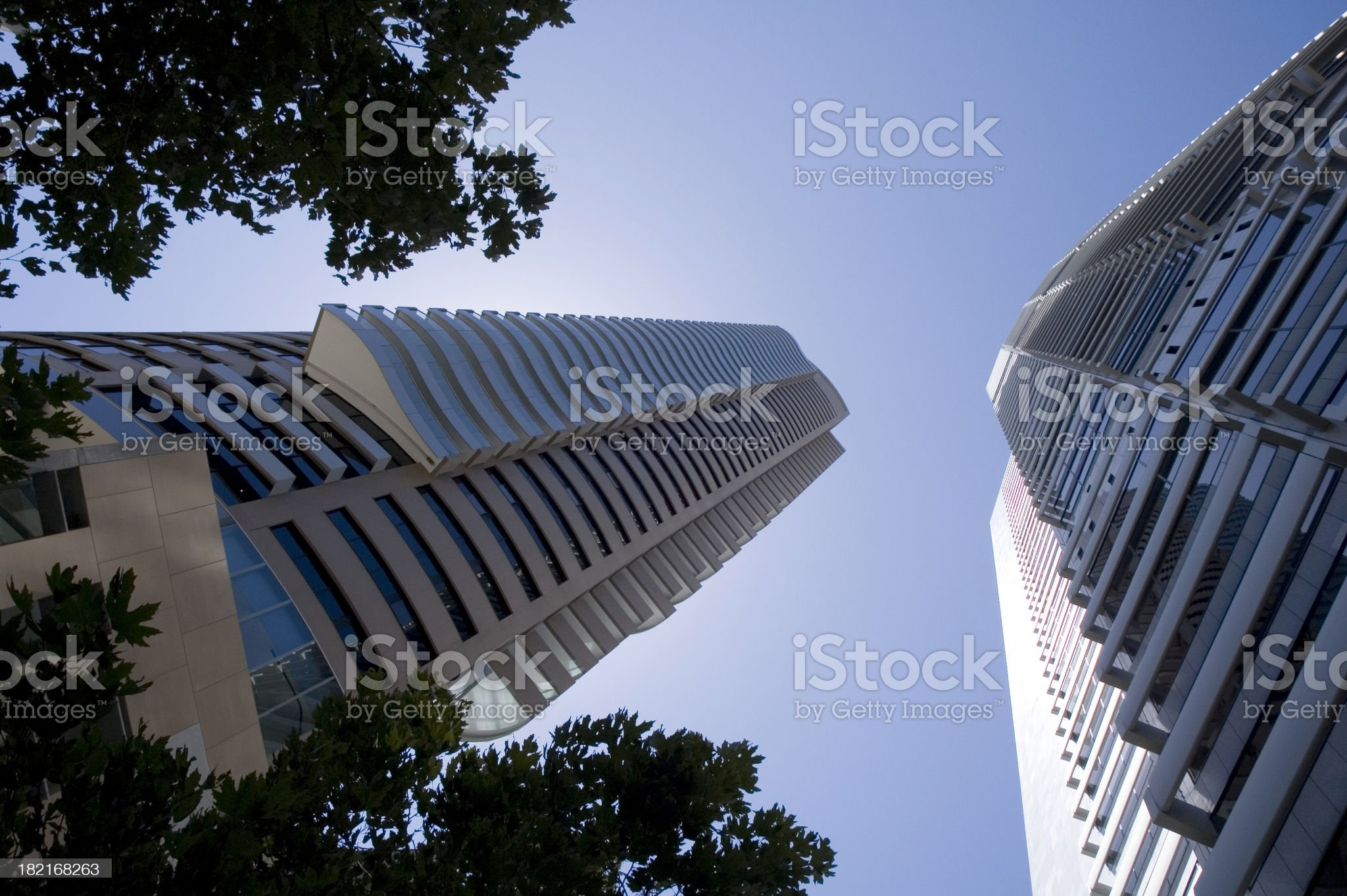 Highrise city buildings royalty-free stock photo