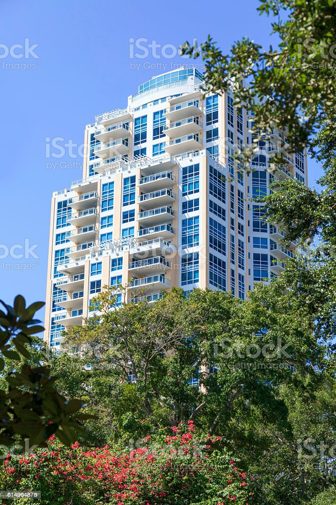 Highrise Condo with Park View stock photo