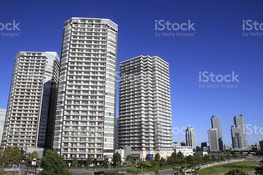 Highrise condominium stock photo