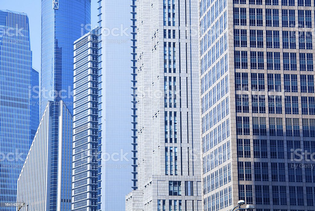 Highrise glass building stock photo