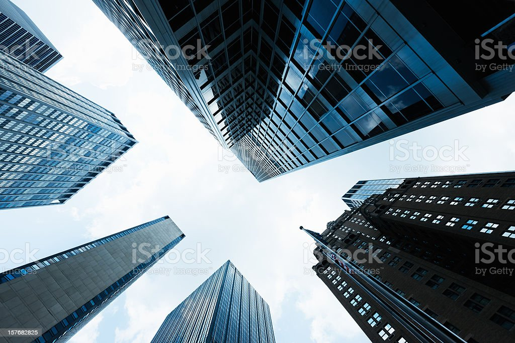 Highrise Manhattan Skyscrapers New York City royalty-free stock photo