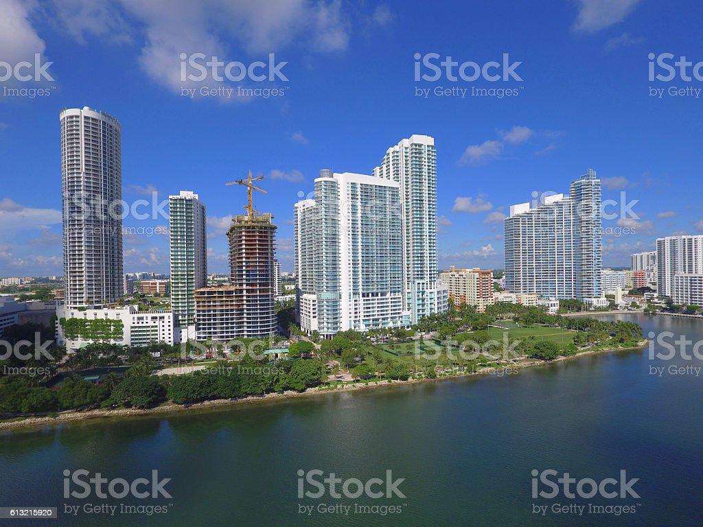 Highrise Miami condos stock photo
