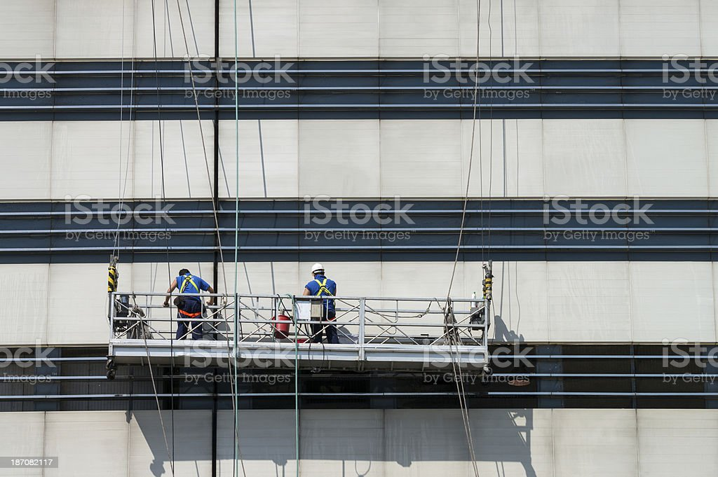 Highrise outdoor cleaners stock photo