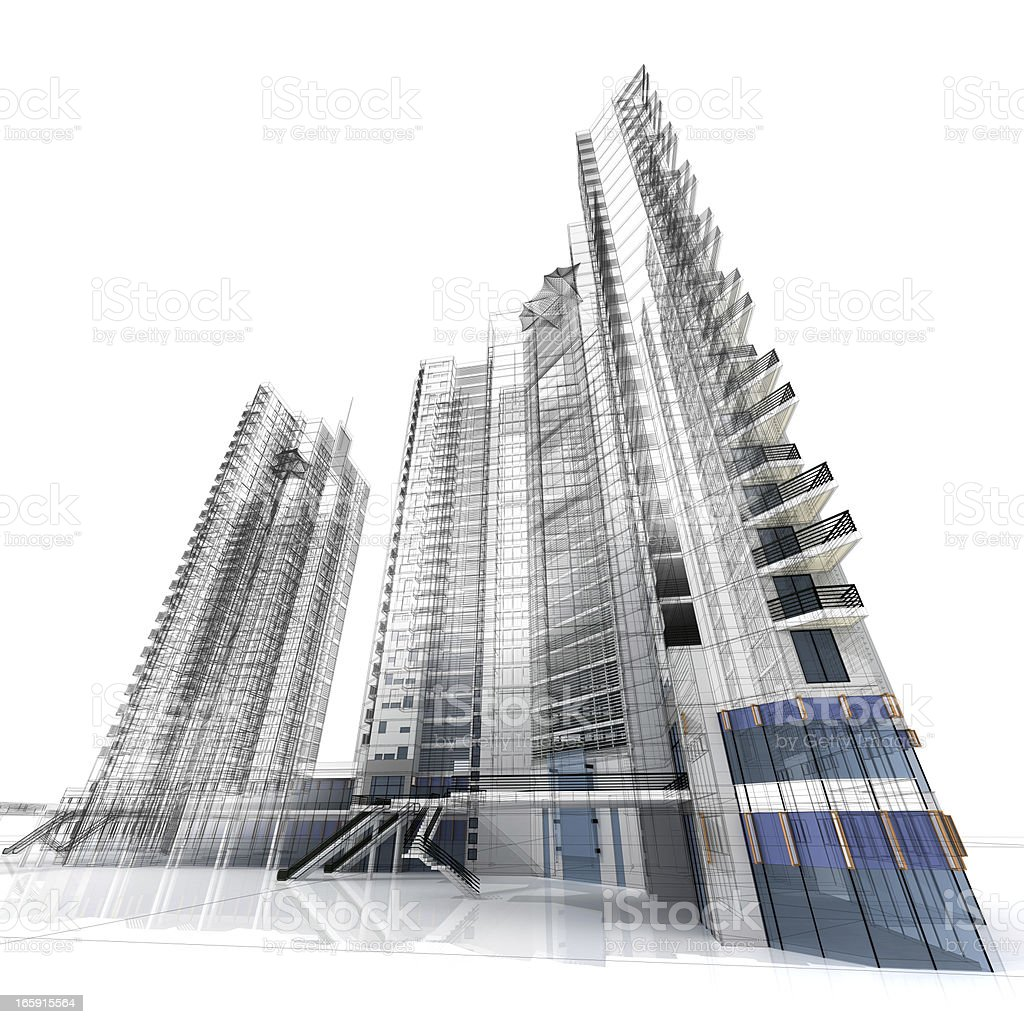 Highrise royalty-free stock photo