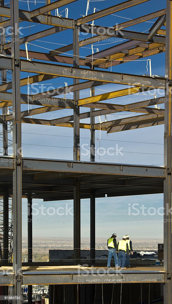 Highrise Under Construction royalty-free stock photo