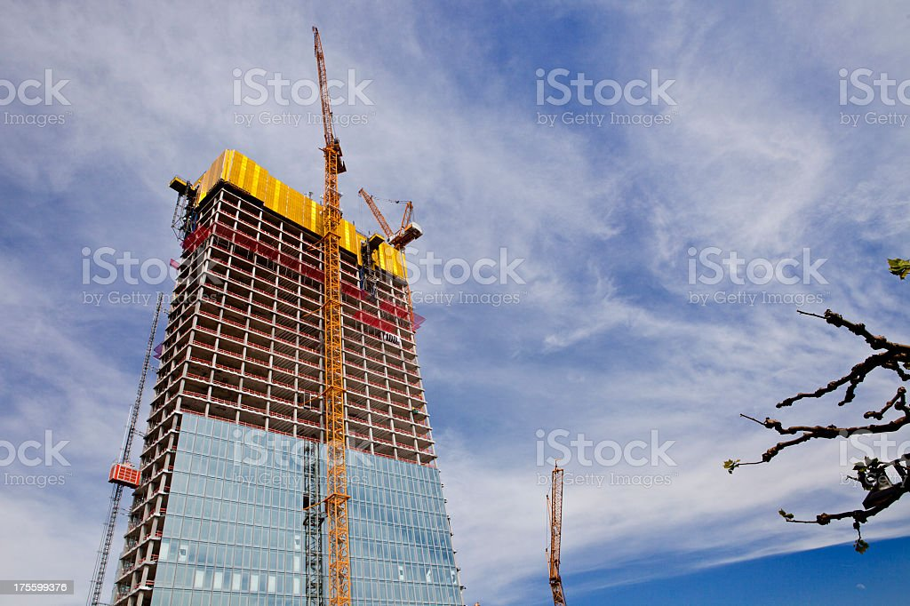 Highriser CONSTRUCTION royalty-free stock photo