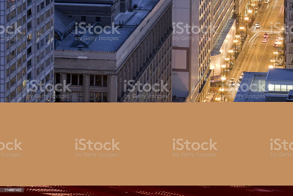 High-Rises at Night royalty-free stock photo