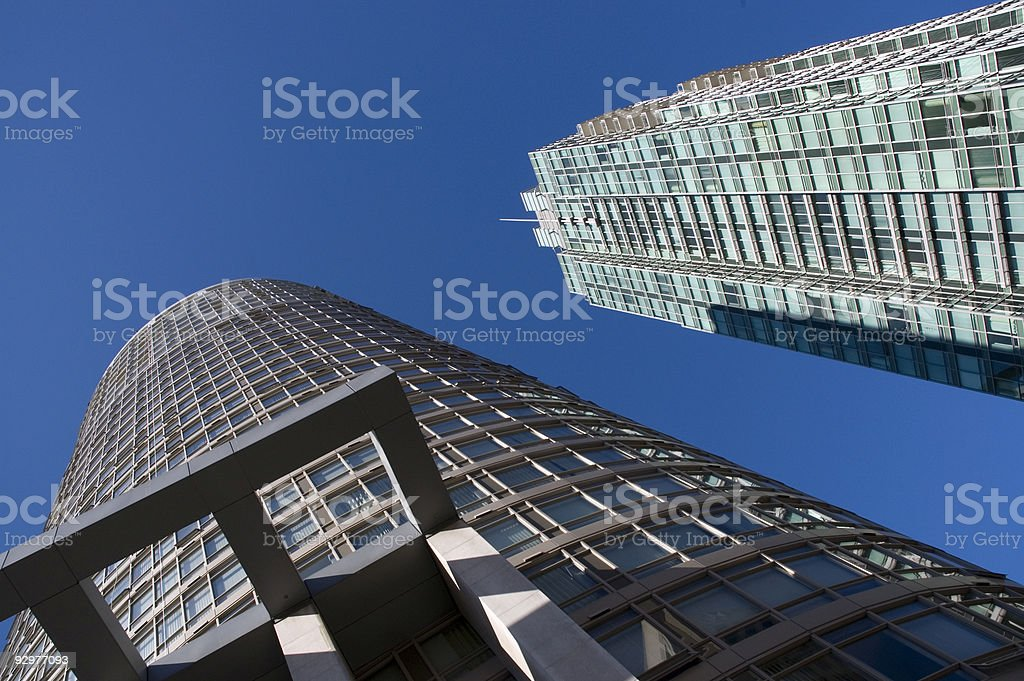 Highrises on an angle royalty-free stock photo